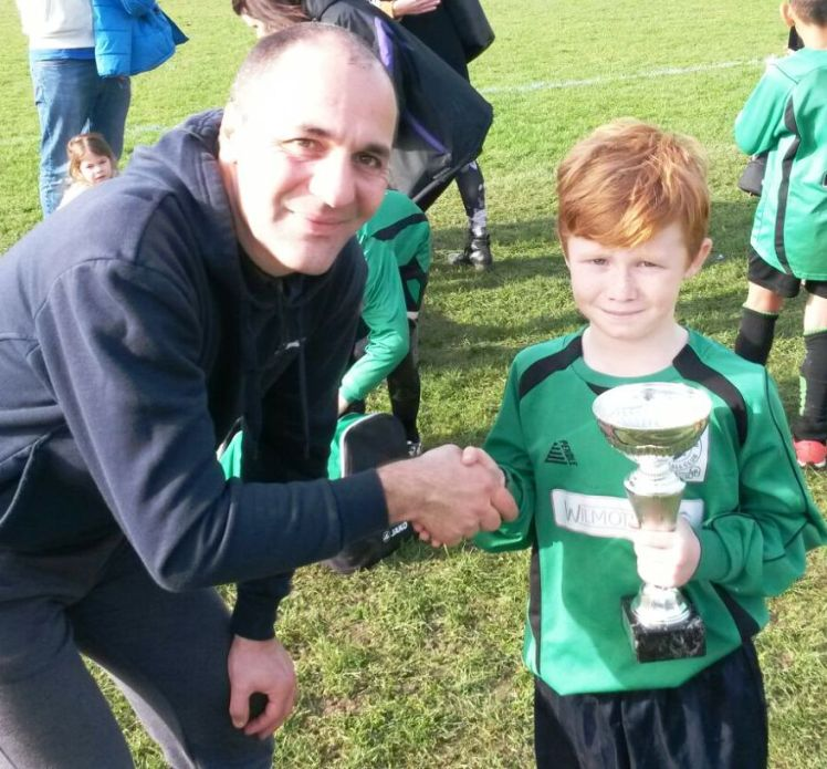 Well done Haydon! Bromley Green's U10s Player of the Tournament at Waterside on Saturday