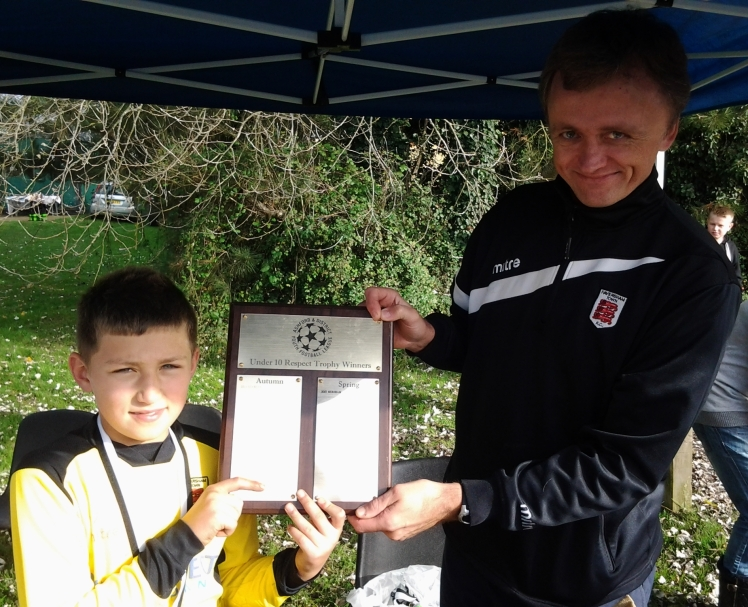 Faversham Town were winners of the ADYFL Respect Shield on Saturday