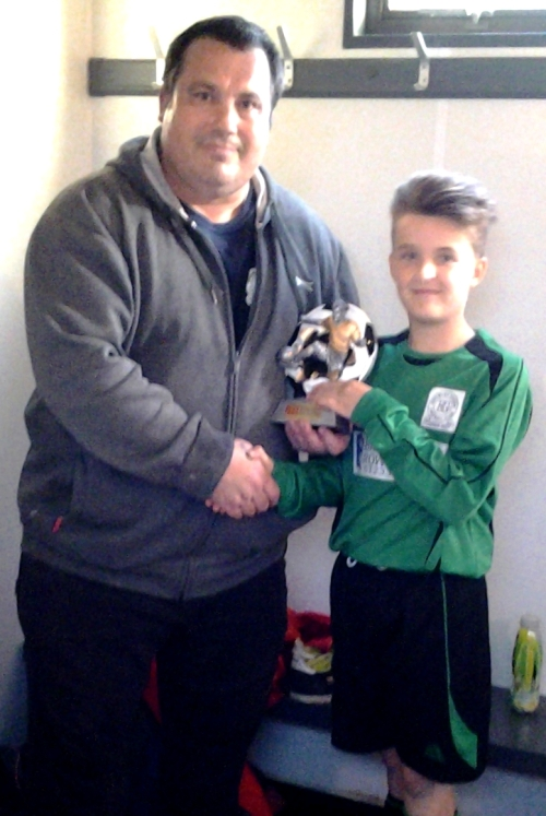 Two-goal Thomas Mason was our U12s Player of the Match against leaders Mersham on Saturday afternoon