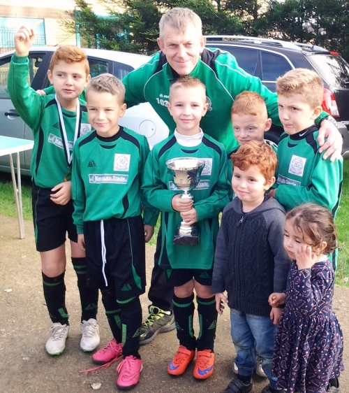 Back from the Wye, our U9s with Connor the  Player of the Tournament