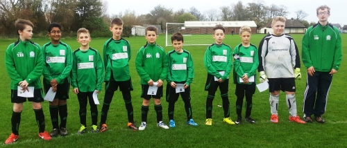 Waiting to be identified! The U12s who turned in the performance of the day