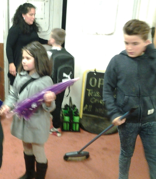 Thomas in his new role as sweeper!