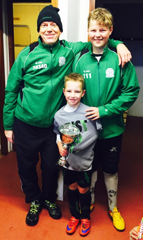 Pat and Finley with Player of the Match Connor O'Neill