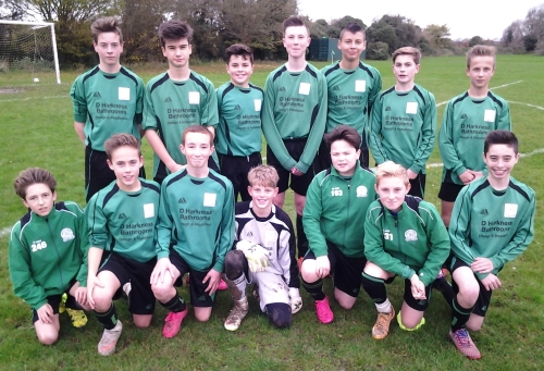 Fighting back from 3-0 down to earn a draw ... the U14s at Waterside yesterday