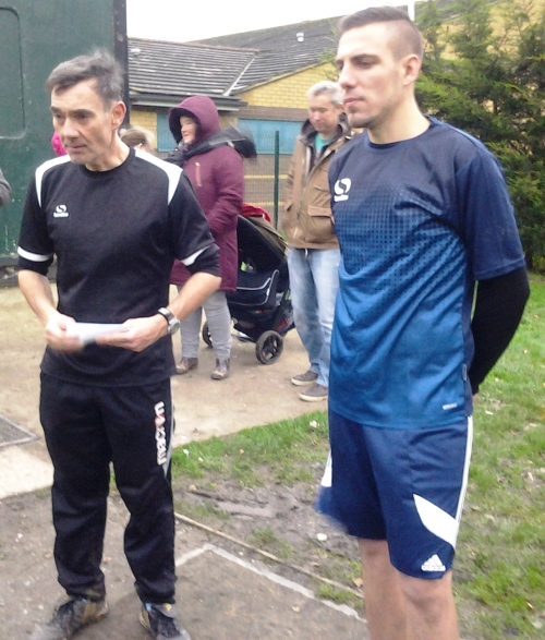 Sean and Carl ... the after match briefing ...