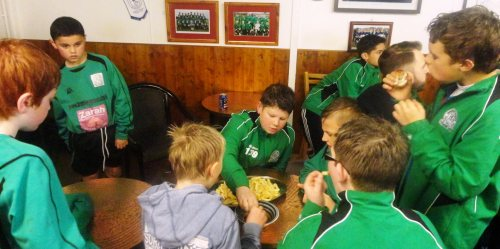 We never waste food when the U11s are around