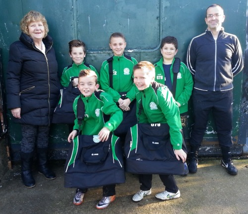 Sandy and Shane with the ever-boisterous Youth Colts! Brentley and Joseph appear smaller than the bags!