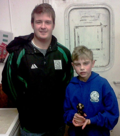 Terrific dsplay by Owen this morning ... our BGV U16s Player of the Tournament ... pictured wth Aaron Maul