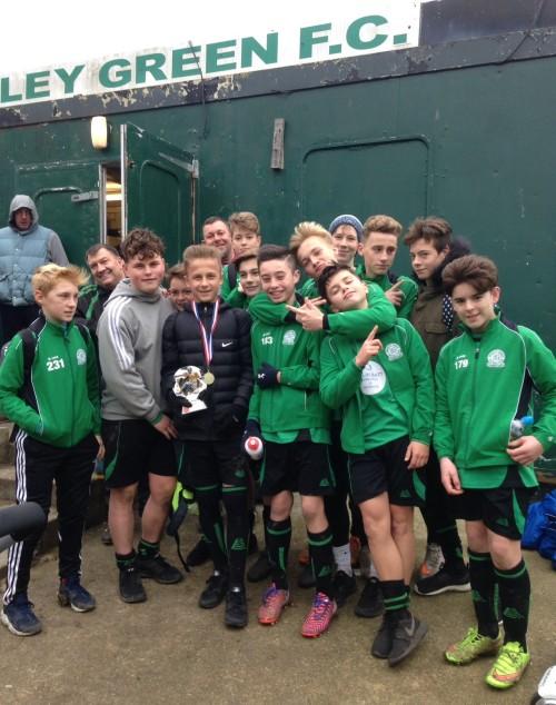 Ten-goal winners: the U14s on Saturday