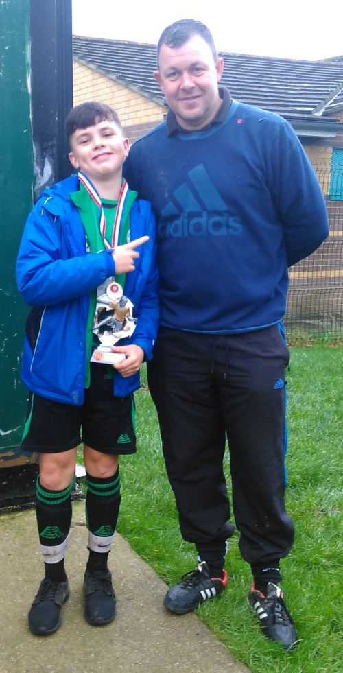 Zac ... U14s PoM with Martin Wirt