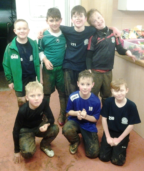 The U10s loved the mud at Waterside ... and the food afterwards!