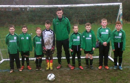 The U9s before a splendid match with Pilgrims