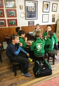The Youth Colts, sponsored by Skoda Caffyns, love ther food after a thrilling clash with Biddenden