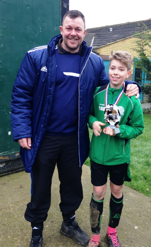 Well done Jack our Plsyer of the Match. Jack, along with Lenny, is doing a great job helping to coach the very Little Ones. Keep up the good work lads!