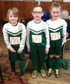 Ready for action in their new McDonalds kit
