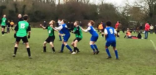 The Green [in blue!] appear to have developed a new dance routine with opponents Monkton