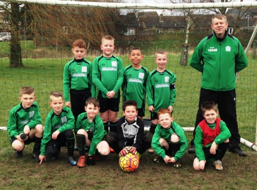 The U9s, who welcomed highly-rated Rising Sun to Waterside