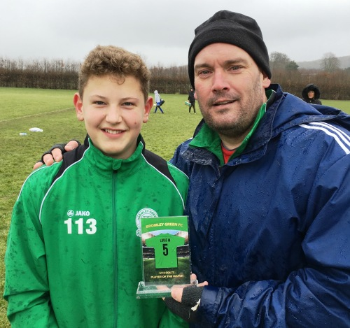 Louis May, Player of the Match for the U14 Colts at Wye