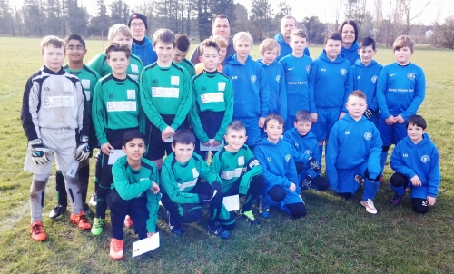 Bromley Green and New Romney before today's entertaining U12s match