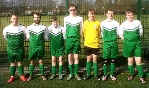 The Bromley Green Adult Valiants at Faversham this morning