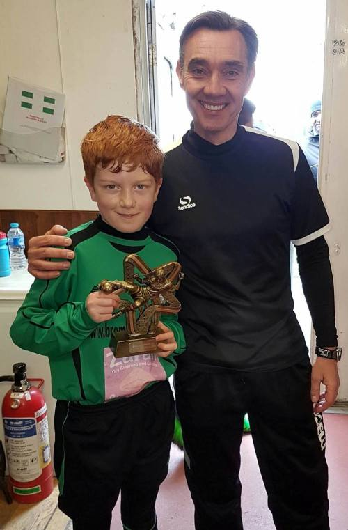 Well done Elliott ... our U11 Player of the Match today ... with Sean Phelan