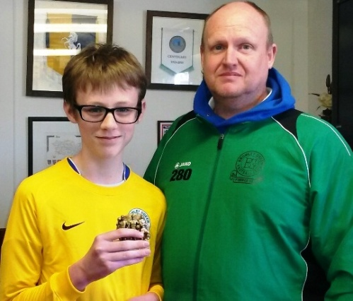 New signing Charlie has made a huge impact and was today's U13s Player of the Tournament