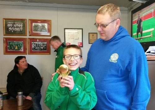 Well done Luke! BGV U11s Player of the Tournament with Nick Cook