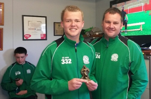 Thomas is our BGV U16s Player of the Tournament at Rainham, seen here with coach David Spencer
