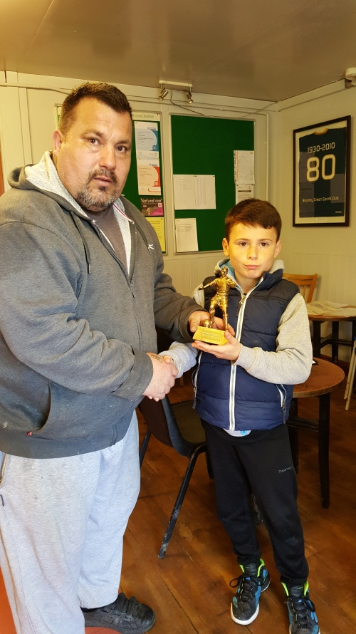 U12s Player of the Match for his total commitment today was Lorenzo