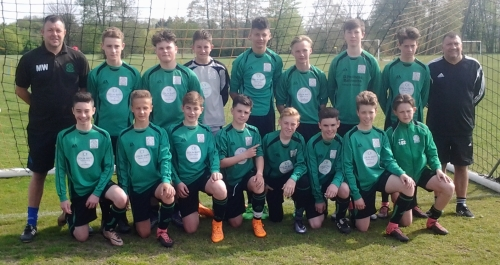Bromley Green U14s who retained the ADYFL Cup today at Ball Lane