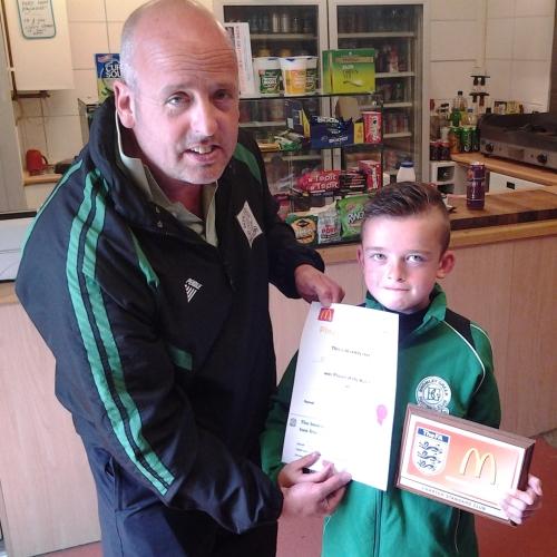 Congratulations Brentley, U10s McDonalds Player of the Tournament