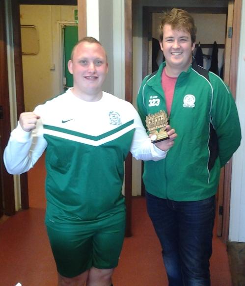Graham Luckhurst ... the Green's Player of the Tournament at Faversham