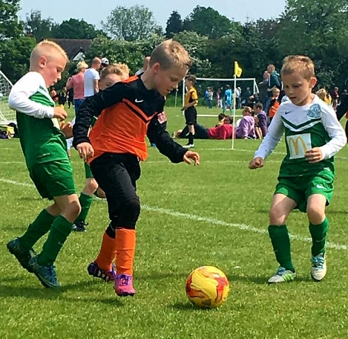 Action from the U8s