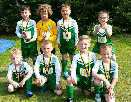 The U8s with their medals this afternoon