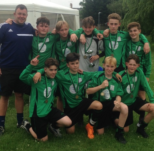 U14s winners Bromley Green yesterday afternoon