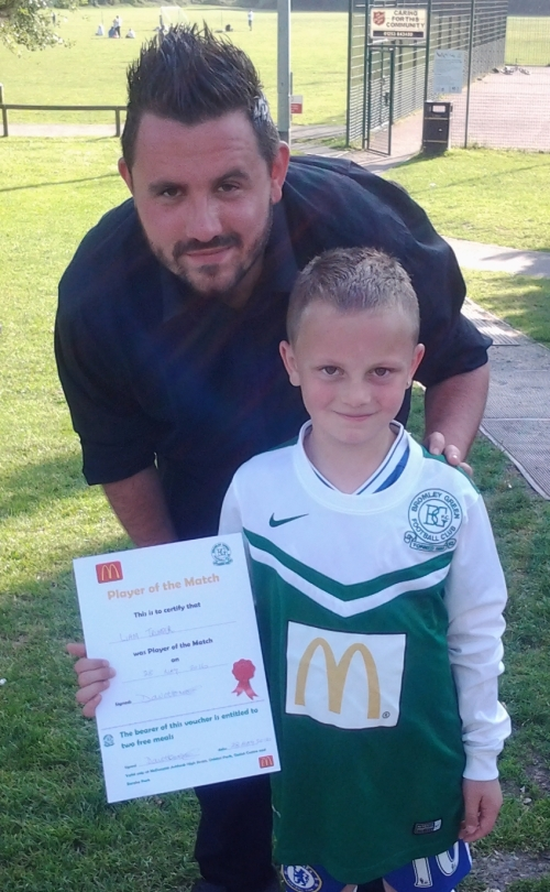 Well done Liam ... McDonalds Player of the Tournament for the U8s