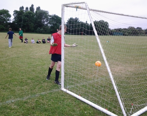 I did my best ... Harrison faces the penalties today at Waterside ... more photos later