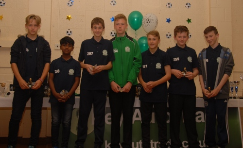 The new lads who supported the event and will form the basis of the Under 14s next season