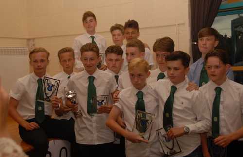 The ADYL U14s with their trophies