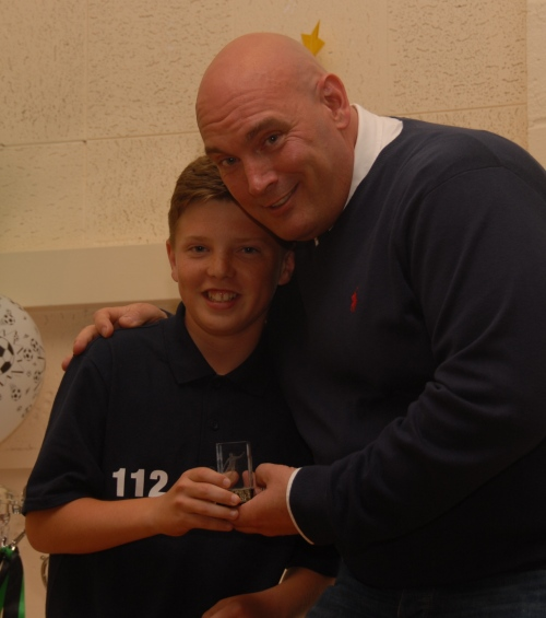 Happy birthday today to Luke Clark ... seen here receiving the Clubman Award for the U14 Colts from Duncan