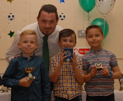 Reagan, Jacob and Alfie with their U8 awards