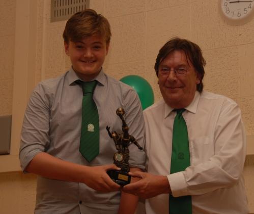 Luke Randall, winner of the Sportsmans Award
