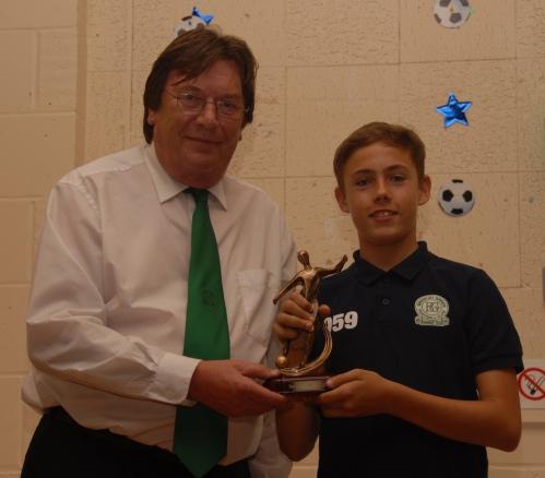 Josh Higgins, winner of the Barry Cunningham Memorial Trophy