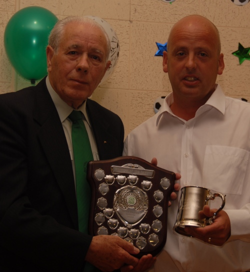 The Nicola Kingham Memorial Shield for Manager of the Year goes to Sid Hone