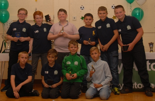 The Under 11s with their awards
