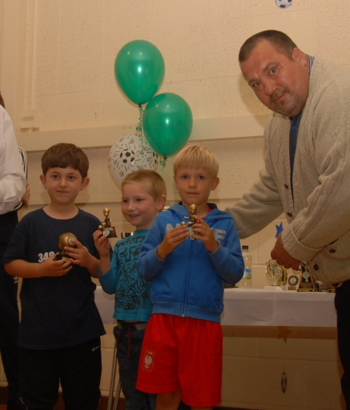 Thomas Habgood and some of the Under 7s
