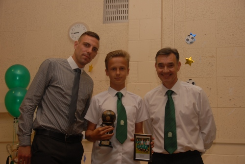 Kuba, seen here with Carl and Sean, was amongst the individual awards on Saturday