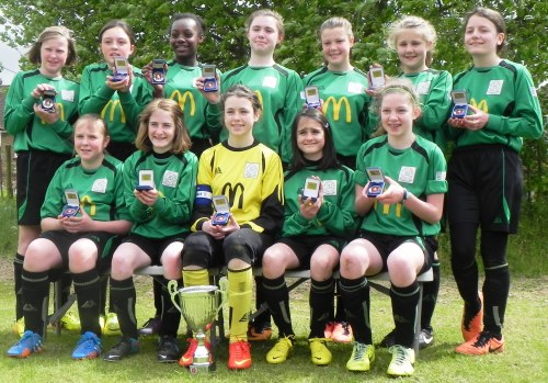 11 May 2014 Bromley Green Girls are Kent Cup winners