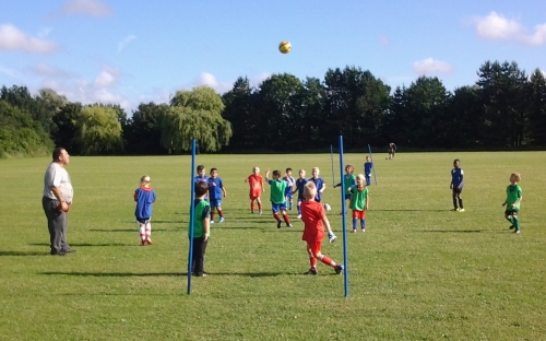 Our youngest groups enjoy training on a sunny Monday evening
