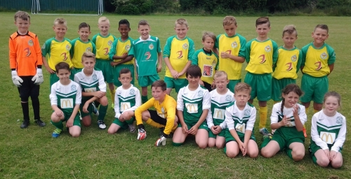 Bromley Green and Ashford United prior to today's U11s friendly at Waterside